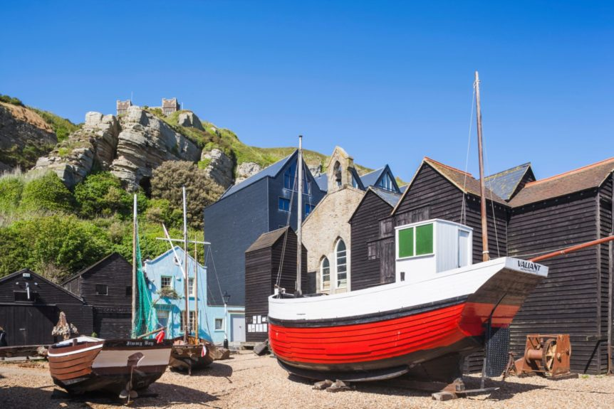 England, East Sussex, Hastings, The Old Town Fisherman's Museum and East Hill