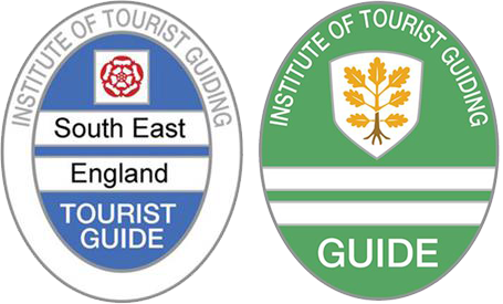 Blue and Green Tourist Guide Badges