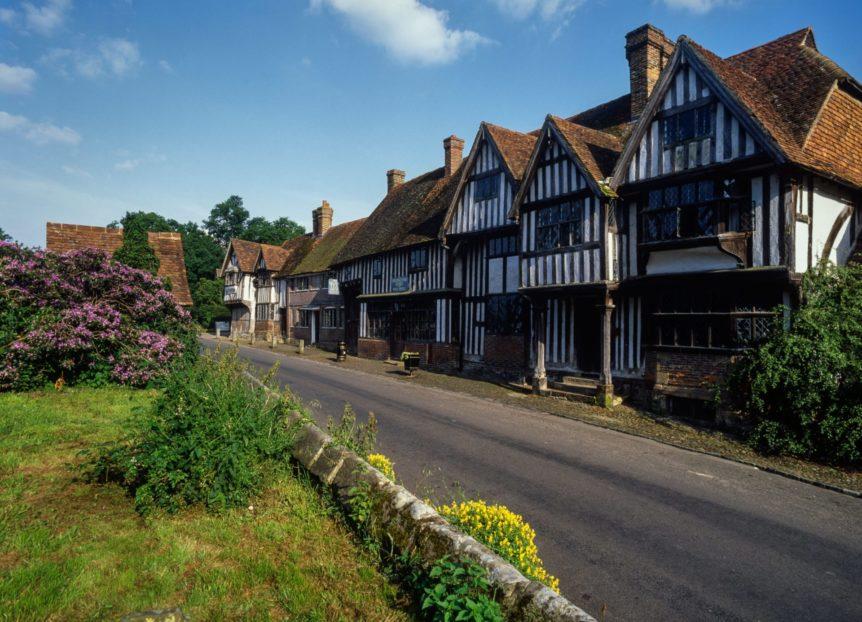 Chiddingstone village. Kent. England. UK